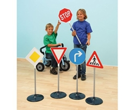 10 große Verkehrsschilder, Verkehrsschulung, Straßenverkehr üben, Verkehrszeichen - Verkehrserziehung Straßenverkehr Kinder Schule lernen schulen Verkehrssicherheit Sicherheit -