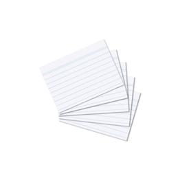 1000 Karteikarten in A8 weiß liniert von Herlitz -