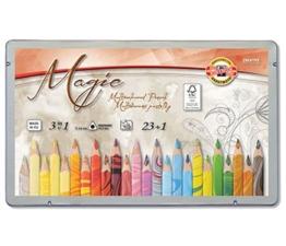 """23 Stück dreieckige Farbstifte / Mehrfarbstifte """"Magic Natur"""" + 1 Blender (Mischstift) -"""