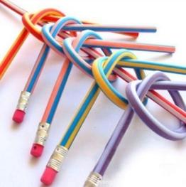 , 25 Stück, weich, flexibel, biegsam Magic Bleistifte, gebogen, für Kinder, Schule Ausrüstung -