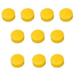 30x Gelbe Magnete, Ø 15, 20, 24 mm, Haftmagnete Gelb für Whiteboard, Kühlschrank, Magnettafel, Magnetset 3 verschieden Größen, Gelb -
