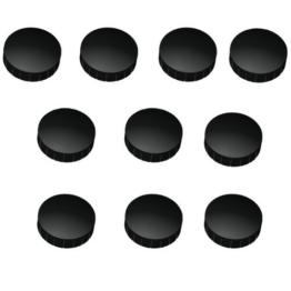 30x Schwarze Magnete, Ø 15, 20, 24 mm, Haftmagnete Schwarz für Whiteboard, Kühlschrank, Magnettafel, Magnetset 3 verschieden Größen, Schwarz -