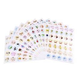 420 x Belohnungsaufkleber, Motivationsaufkleber, Sticker, Organisationshilfe für Lehrer, Schüler, Eltern, Kinder im Unterricht und zu Hause -
