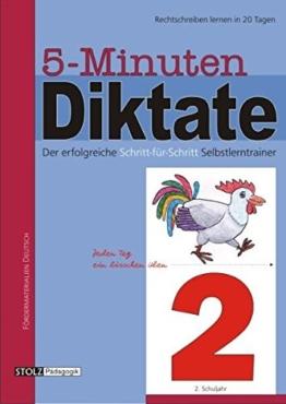 5-Minuten-Diktate, neue Rechtschreibung, 2. Schuljahr -
