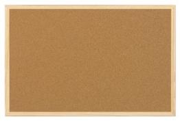 5 Star Office 906713 Korktafel 90 x 60 cm Kork / Holz Stück, braun -
