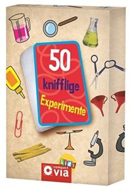 50 knifflige Experimente: Karten zum Experimentieren und Staunen für kleine Forscher -