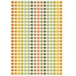 736 Mini-Smiley-Aufkleber mit mehreren Sternchen (10mm Sticker) -