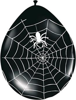 8 Halloween Spinnen Ballons -