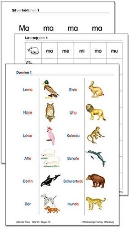 ABC der Tiere / ABC der Tiere - Silbenkärtchen, Leseteppiche, Domino: Beilagen zum Leselehrgang -