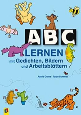 ABC lernen mit Gedichten, Bildern und Arbeitsblättern -
