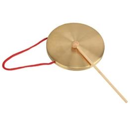 Alt-Kupfer Gong Kapelle Percussion-Becken (Durchmesser 15,5 Operngong -