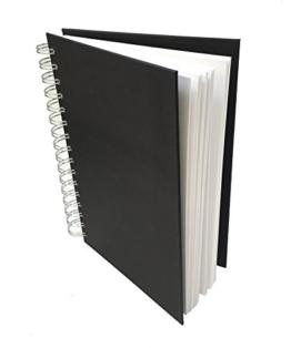 Artway STUDIO A4 Skizzenbuch, spiral-gebundenes Skizzenbuch in Hochformat, Hardcover, 100 Seiten (50 Blatt), 170 g/m2, säurefreies Primärfaser-Zeichenpapier -
