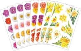 Avery Zweckform 58206 Frühling Sticker Set Blumen Mix (Vorteils-Pack) 117 Aufkleber -
