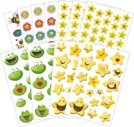 Avery Zweckform 58212 Belohnung Sticker Set Lachende Gesichter (Vorteils-Pack) 274 Aufkleber -