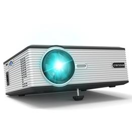 Beamer, Crenova XPE470 Projektor HD Video LCD Beamer 130'' Support 1080P / USB / VGA / SD / HDMI für Xbox / iphone / Smartphone / PC -
