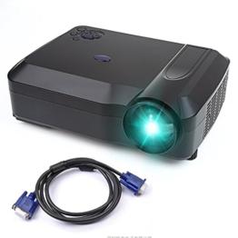 Beamer, Crenova XPE650 HD Beamer Projektor 1280*768 Auflösung 120 Zoll Videoanzeige unterstützt HDMI VGA USB SD AV TV Eingabe für Heimkino + gratis VGA + HDMI Kabel -