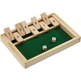 Beluga Spielwaren 10021 - Klappbrett aus Holz, aufregendes und kniffliges Würfelspiel -
