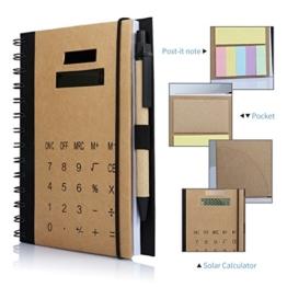 Betterhill Exclusiv B5 Organizer mit Ringbuch,Solar Rechner,Ringbuch,inkl. B5-Schreibblock Mit Stift,60 Seiten 18 x 14.5 x 2.5CM Braun -