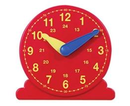Betzold Lernuhr, Durchmesser 13 cm - Mathematik Arbeitsmaterial Uhrzeiten Demonstrationsuhr Zahlen Rechnen Uhr lesen lernen Kinder Unterricht Schule Lehrmittel Lernmittel -
