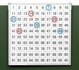 Betzold Magnethaftende Tafel mit aufgedrucktem Hunderterfeld - Mathematik Rechnen lernen Zahlen Schule Kinder Schüler Unterricht Lehrmittel trainieren üben Übungen Rechenaufgaben Mathematikaufgaben -