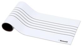 Betzold Magnetisches Notensystem, magnetisch als auch magnethaftend, Musik-Noten lesen lernen, mit Whiteboard-Stiften beschreiben, Linienabstand 2,5 cm -