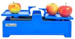 Betzold Waage, Wiegebereich bis 2000 g, aus stabilem Kunststoff - Tafelwaage Schulwaage Einheiten Rechnen lernen Gewicht Mathematik Kinder Schule Lehrmittel -