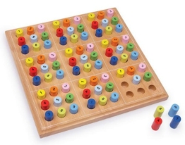 Brettspiel SUDOKU Spiel Holzspiel Holzbrettspiel Holz-Sudoku Holz NEU 2489 OVP -