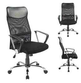 Bürostuhl Chefsessel Ergonomisch Netzstoff Wippfunktion in Schwarz Duhome 0341 Schreibtischstuhl Office Chair Drehstuhl Gaming Stuhl Buerostuhl - Duhome -
