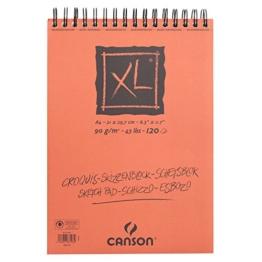 Canson Skizzen- und Zeichenblock XL/787103 A4 natürlich weiss 90 g/qm Inhalt 120 Blatt -