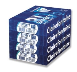 Clairefontaine RDC3004SC Smartprint (80g, A4, 4 x 500 Blatt) weiß -
