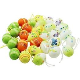 COM-FOUR® Ostereier Set, 30 Stück mit verschiedenen Motiven und Farben, 6 cm (30 Stück - mehrfarbig) -