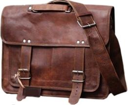Cool Stuff Leder Umhängetasche Laptoptasche Ledertasche Vintage Unitasche Aktentasche Rustikal Büro Lehrertasche Arbeitstasche Ledertasche Umhängetache -