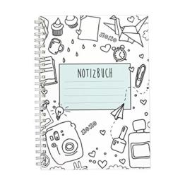 CUPCAKES & KISSES Notizbuch / Ringbuch / liniert / DIN A5 / weiße Spiralbindung / 120 Seiten / für Mädchen und Frauen / Tagebuch / Softcover türkis -