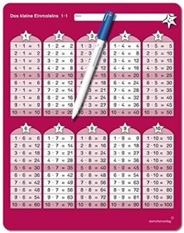 Das kleine Einmaleins mit Stift: Im großen Format, trocken abwischbar ohne zu schmieren und ohne Farbrückstände für die 2. Klasse -