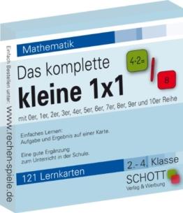Das komplette kleine 1x1, 121 Lernkarten, leicht lernen mit Karteikarten by schott Verlag & Werbung -