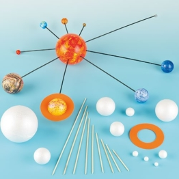 Dein eigenes Sonnensystem - Set zum selber bauen für Kinder für den Astronomie-Unterricht - 2 Bastelsets -