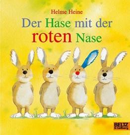 Der Hase mit der roten Nase: Vierfarbiges Papp-Bilderbuch -