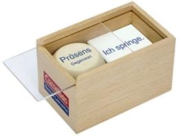 Deutsch plus - Lehrmittel Grundschule - Würfelspiele: 3.-5. Schuljahr - Zeitbestimmung: Würfelspiel. Holzbox mit Holzwürfel und 60 Karten -