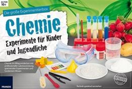 Die große Experimentierbox Chemie - Experimente für Kinder und Jugendliche: Chemie im Alltag entdecken mit professioneller Laborausrüstung, spannenden Experimenten und fundiertem Wissen. -