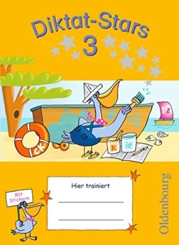 Diktat-Stars - Allgemeine Ausgabe: 3. Schuljahr - Übungsheft: Mit Lösungen -