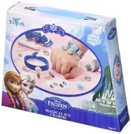 Disney Frozen Die Eiskönigin Bastel-Set Glitter-Armbänder für Mädchen (Kreativ-Set für 2 glitzernde Armbänder) -