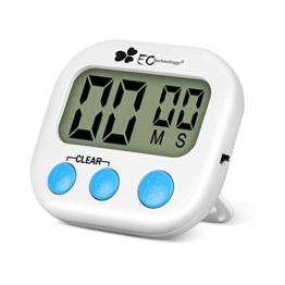 EC Technology digitale Küchenuhr/ Timer, Digital Timer mit großem Bildschirm und Magnet für die Küche zum Kochen, Backen, Spiele, Sport und Büro -