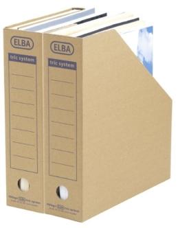 """ELBA 100421086 Stehsammler """"tric system"""" mit Archivaufdruck, für Kataloge u. Zeitschriften, naturbraun, 12 Stück -"""