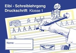 Elbi Schreiblehrgang Druckschrift - Schreiben lernen in der Grundschule und Förderschule - H12 -