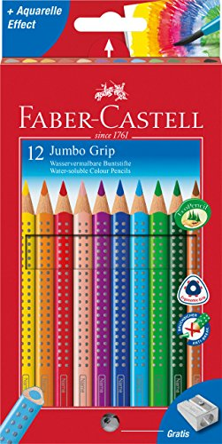 Faber-Castell 110912 Farbstift Jumbo Grip Kartonetui 12er -
