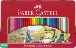 Faber-Castell 115846 - Buntstifte Classic Colour, 36er Metalletui -