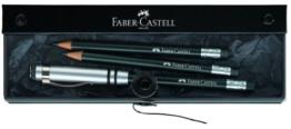 Faber-Castell 118351 - Der - Perfekte Bleistift -, inklusive Geschenkverpackung, Härtegrad B, Schaftfarbe: schwarz / silber -