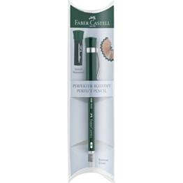 Faber-Castell 119037 - Perfekter Bleistift Castell 9000, Härtegrad B, Schaftfarbe: grün -