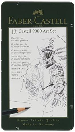 Faber-Castell 119065 - Bleistift CASTELL 9000, 12er Art Set, Inhalt 8B - 2H -