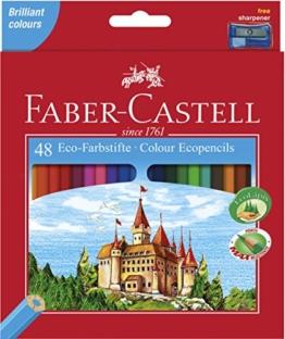 Faber-Castell 120148 - Eco Buntstifte, 48er Kartonetui inklusive Spitzer -